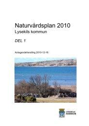 Naturvårdsplan 2010 del 1.pdf - Lysekils kommun