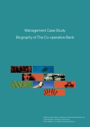 Management Case Study Biography of The Co-operative Bank - MSc