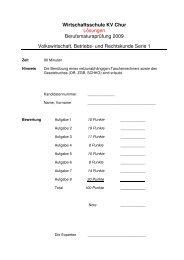 2009 LAP VBR M-Profil Loesungen - Wirtschaftsschule KV Chur