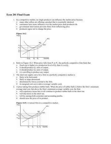Econ 201 Final Exam - WVU College of Business and Economics