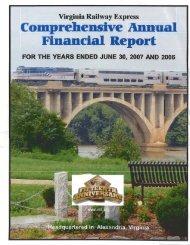 2007 Audited Financial Statement - Virginia Railway Express