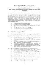Swarna Jayanti Shahari Rozgar Yojana - Ministry of Housing ...