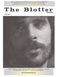 July - The Blotter Magazine