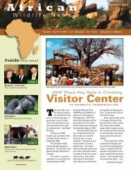 New Visitor Center - African Wildlife Foundation