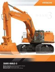 ZAXIS 850LC-3 - Distribuidora Nissan SA