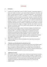 Confidentialité 1. Introduction 1.1 L'ensemble des ... - RCI.com