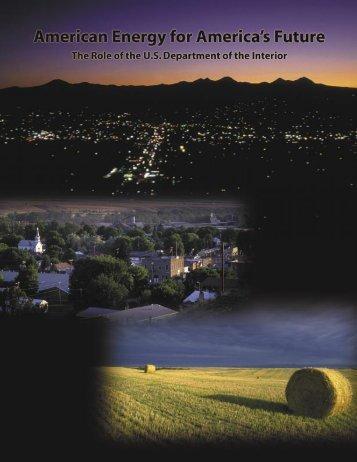 American Energy for America's Future - Bureau of Land Management