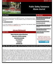 Public Safety Substance Abuse Journal - Medtox