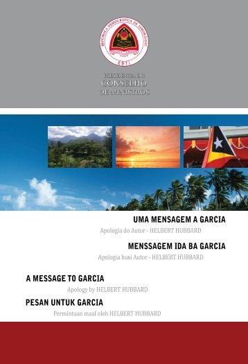 Uma Mensagem a Garcia - Secretaria de Estado da Arte e Cultura