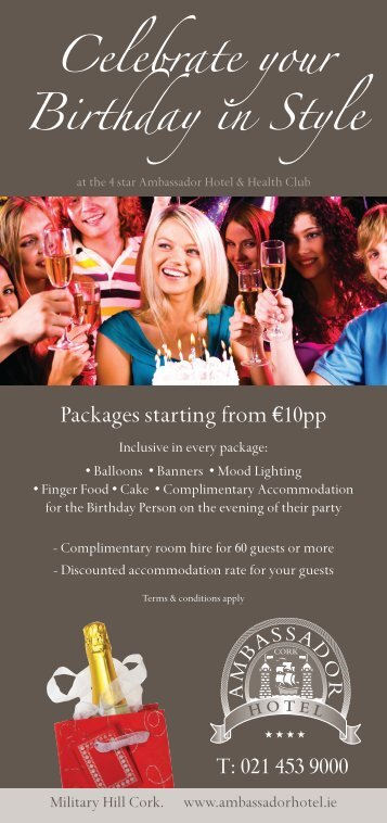 our All inclusive Birthday Party Packages - Ambassador Hotel