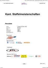 Kant. Staffelmeisterschaften Resultate - BLV Nachwuchs