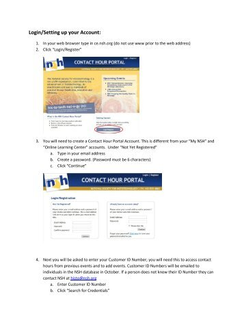 a PDF with step by step instructions for setting up an account in