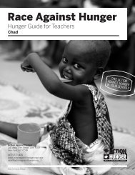 Hunger Guide for Teachers: Chad - Action Against Hunger