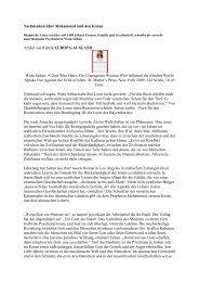 Nachdenken über Mohammed und den Koran - Alte und neue Zeiten