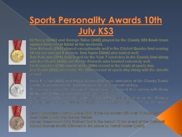 OLYMPIC Sports Personality Awards 2015 JULY 10th