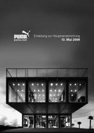 Einladung zur Hauptversammlung 13. Mai 2009 - About PUMA