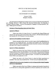 MINUTES OF THE WINTER MEETING BOARD OF TRUSTEES THE ...