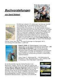 Buchvorstellungen von Gerd Stiebert