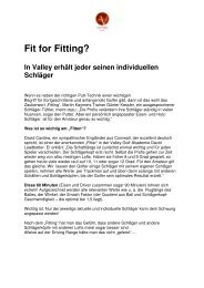 Fit for Fitting? - Golf Valley GmbH