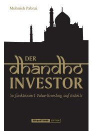 Mohnish Pabrai So funktioniert Value Investing auf Indisch