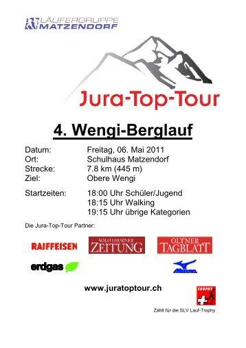 4. Wengi-Berglauf - Jura-Top-Tour