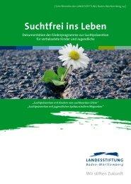 Suchtfrei ins Leben - Baden-Württemberg Stiftung
