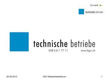 Netzbetreiberforum 2013 - DSV