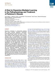 A Role for Dopamine-Mediated Learning in the ... - Michael Frank