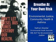 Breathe At Your Own Risk - Center for Environmental Excellence