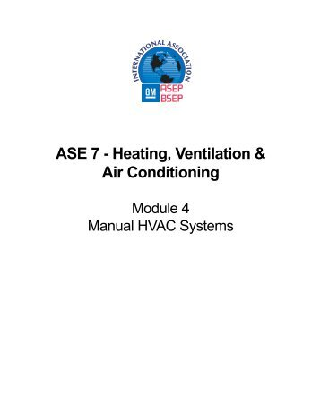 ASE 7 - Heating, Ventilation & Air Conditioning - CCBC Student Web