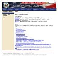 Patterns of Global Terrorism - Higgins Counterterrorism Research ...
