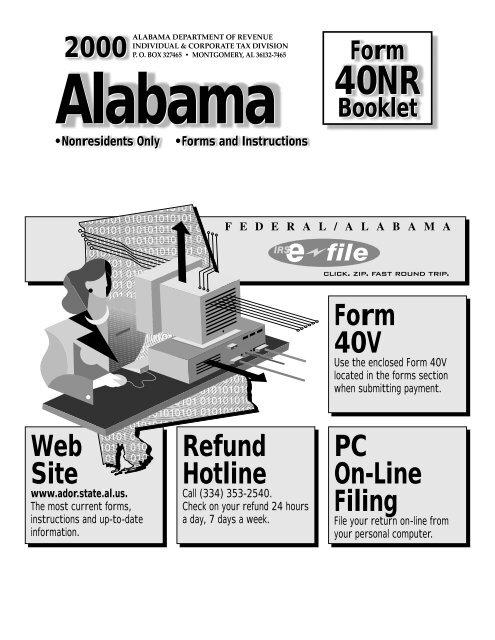 2000 Form 40NR Booklet - Alabama Department of Revenue