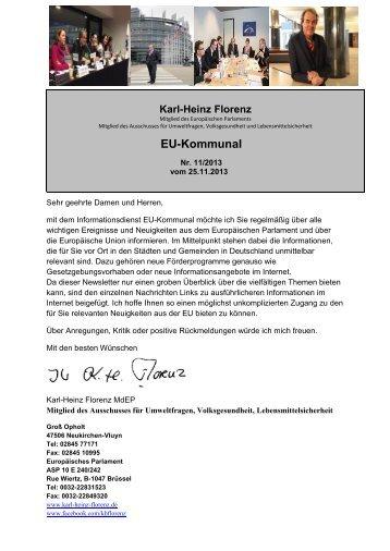 2013 - November - Karl-Heinz Florenz