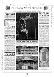 EVROPSKÁ - Mariánskolázeňské listy