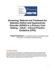 (ADHD) in a Primary Care Setting - Physicians Plus