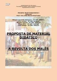 proposta de material didático a revolta dos malês - Diversitas - USP