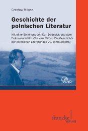 Geschichte der polnischen Literatur - narr-shop.de
