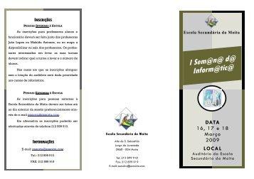 I Sem@n@ d@ Inform@tic@ - Agrupamento de Escolas do Barreiro