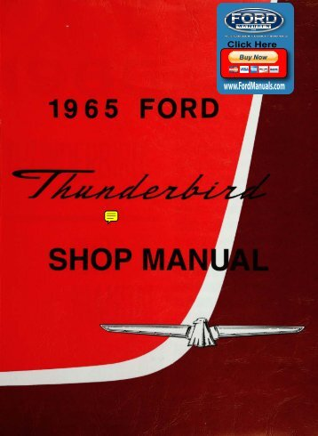 DEMO - 1965 Ford Thunderbird Shop Manual - FordManuals.com