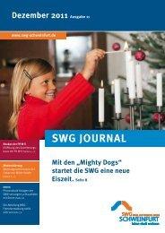 Mieter Journal der SWG - Ausgabe 11 (Dezember 2011)