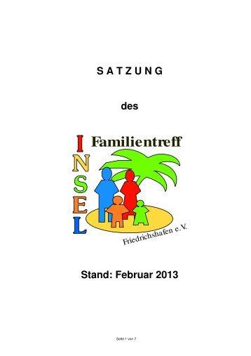 Satzung (PDF) - Familientreff INSEL Friedrichshafen eV