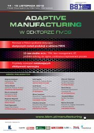 ADAPTIVE MANUFACTURING - Blue Business Media