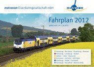 Fahrplan 2012 - Metronom