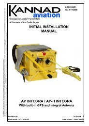 00. Initial Installation Manual AP INTEGRA.book - Dallas Avionics