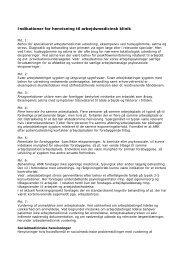 Indikationer for henvisninger - Arbejdsmedicinsk klinik