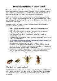 Insektenstiche - Bienenzuchtverein Sulzbach-Rosenberg 1871