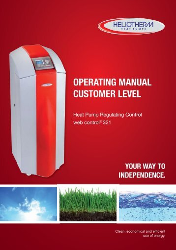 OPERATING MANUAL CUSTOMER LEVEL - Heliotherm