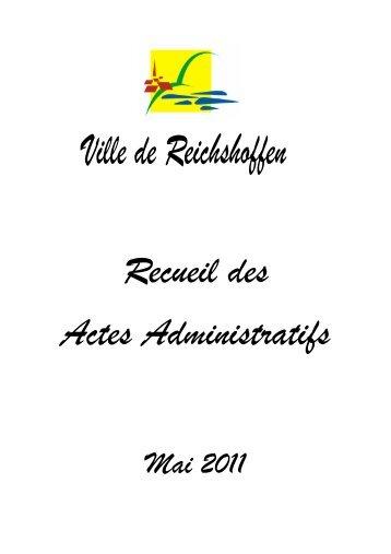 Recueil des Actes Administratifs de mai