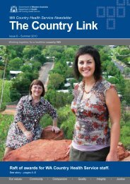 The Country Link: Summer 2010 - WA Country Health Service