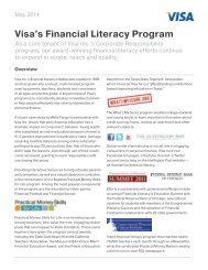 Visa's Financial Literacy Program - Practical Money Skills